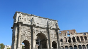 Arch of Constantine with colosseum