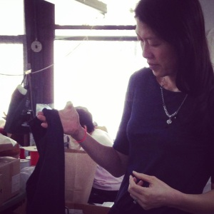 suwha inspecting garment