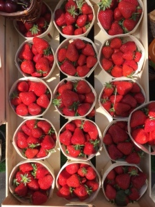 Paris strawberries