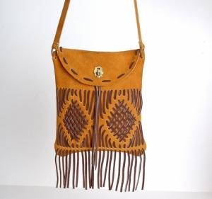 vintage fringe bag